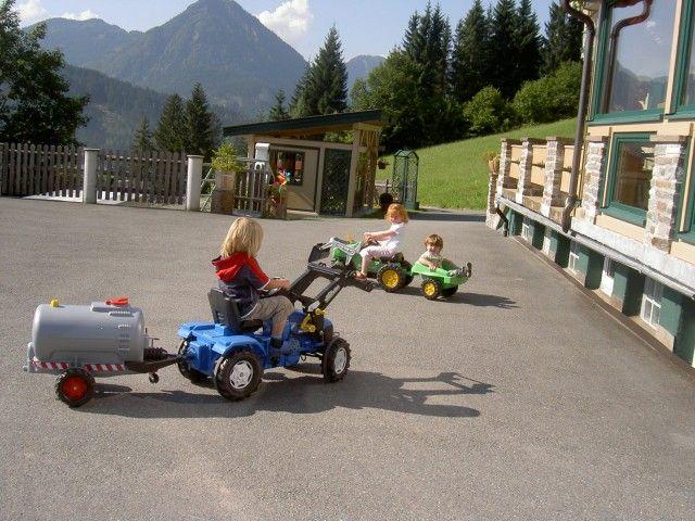 Terrasse Ferienhof Obertenn
