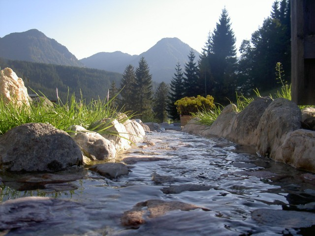 Wasserbachlauf am Hof