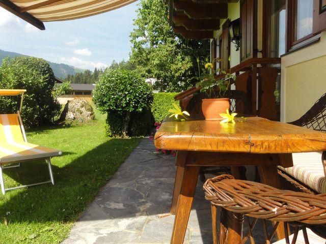 Sonnenterrasse  Ferienhaus Enn in Leogang