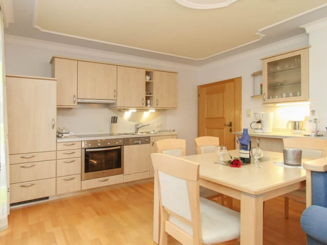 Wohnküche Ferienwohnung 2 im Ferienhaus Enn in Leo