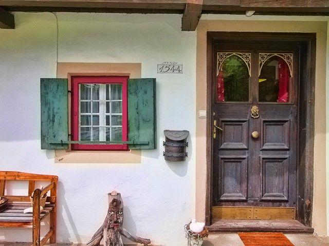 Der Hauseingang mit eigenem Flair
