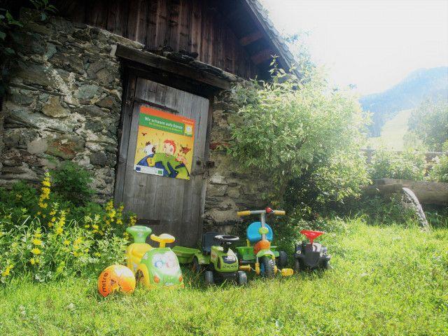 Biohof Maurachgut-Bauernhofurlaub-Kinder-Roller-Sp