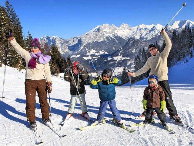 Skifahren auf der Almenwelt Lofer
