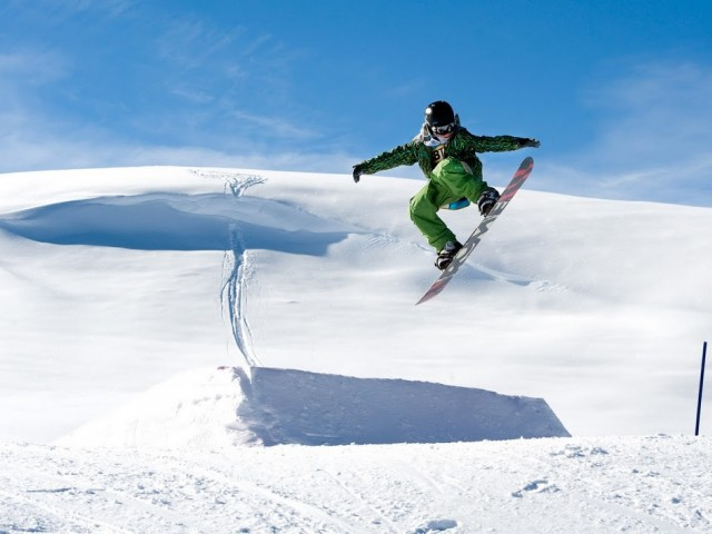 Snowboard-Parc in der Almenwelt Lofer