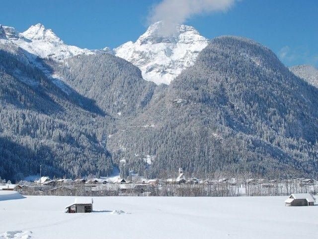 Ausblick auf St. Martin im Winter