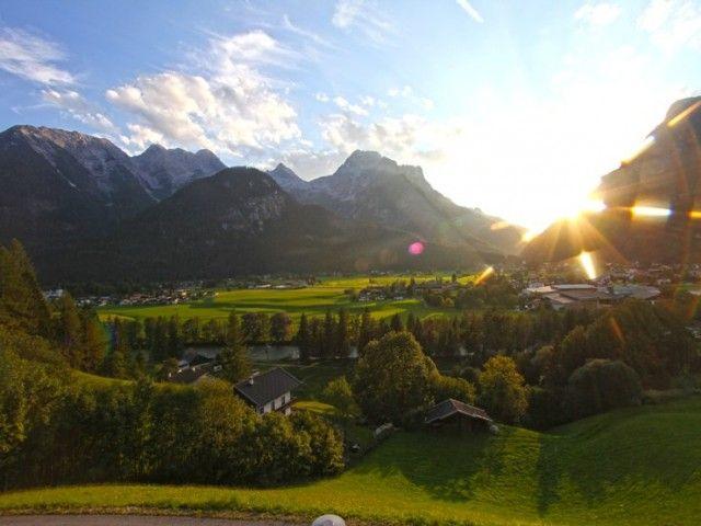 Traumhafert Ausblick auf die Loferer Steinberge
