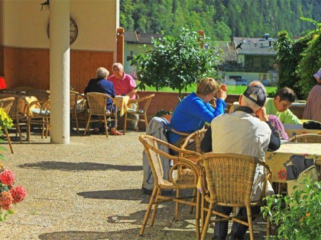Terrasse Landgasthof Seisenbergklamm
