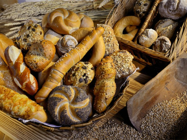 frisches Gebäck der hauseigenen Bäckerei